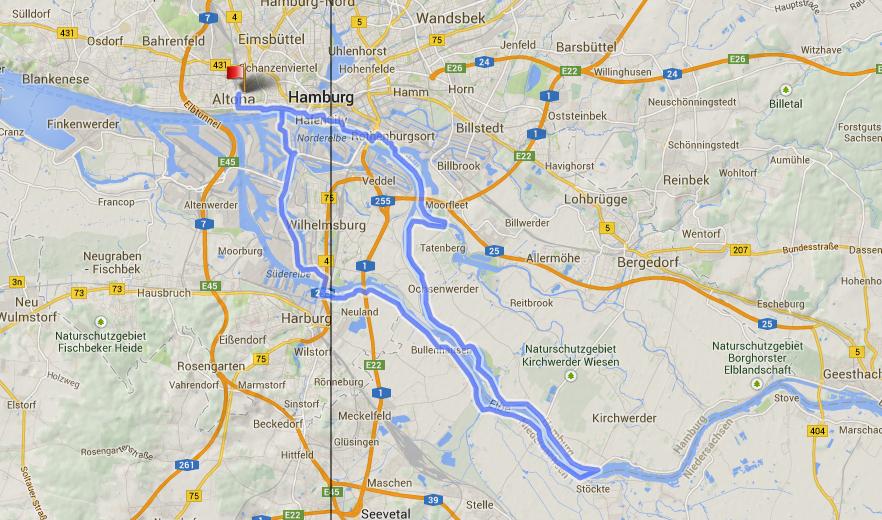 13 mal über die Elbe