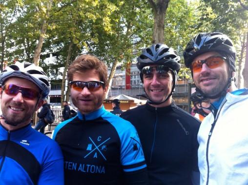 Die Cyclisten im Startblock der Cyclassics 2014
