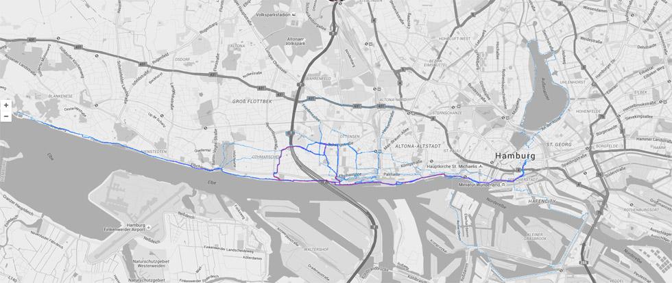 Die Vorbereitung Berlin Halbmarathon zum größten Teil entlang der Elbe statt.