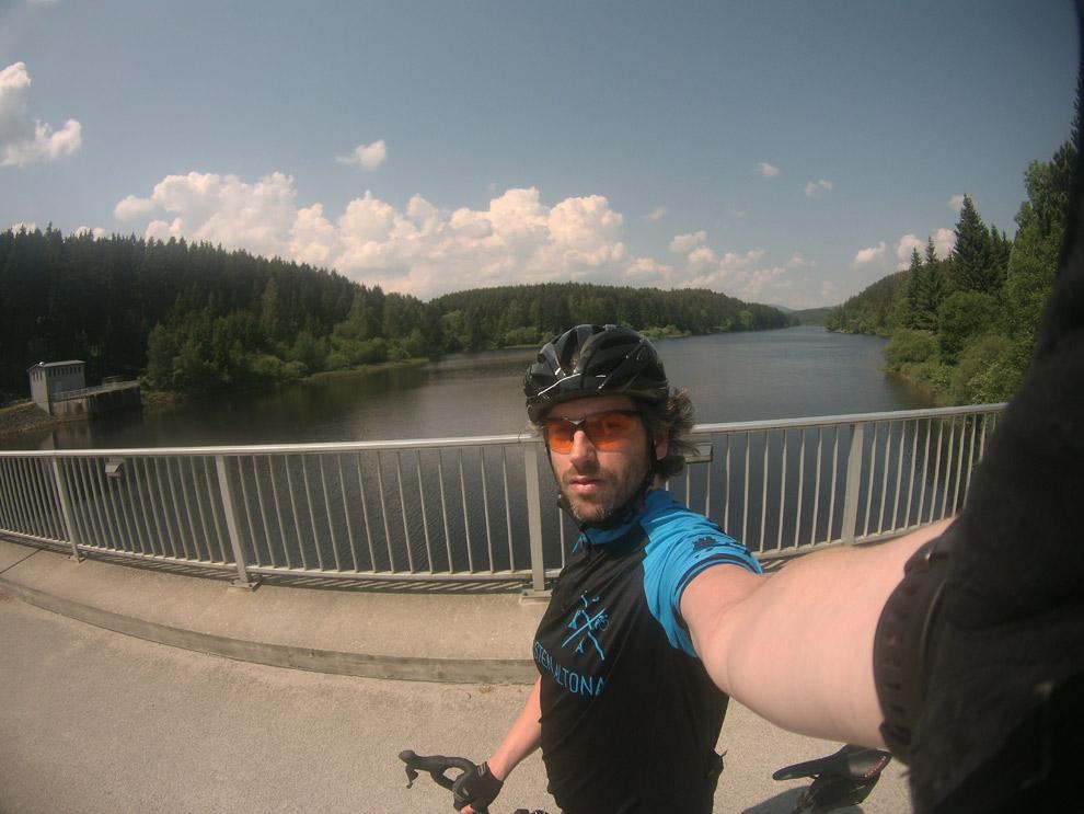 Stausee der Bode mit perfekten Straßen fürs Rennradtraining