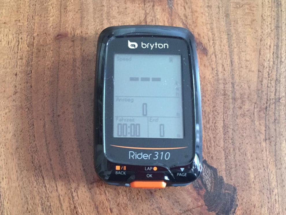 Test Bryton Rider 310: Alles an seinem Platz