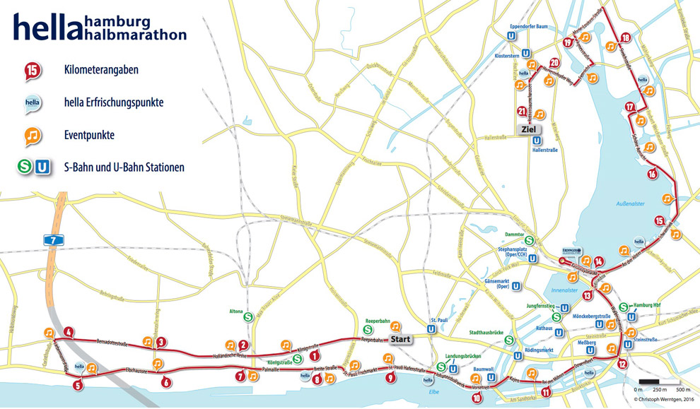 Strecke Hella Halbmarathon 2017 in der Übersicht