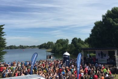 Startbereich des Vierlanden Triathlons 2017 in Hamburg
