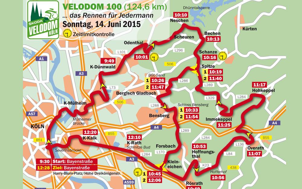 Strecke Rund um Köln